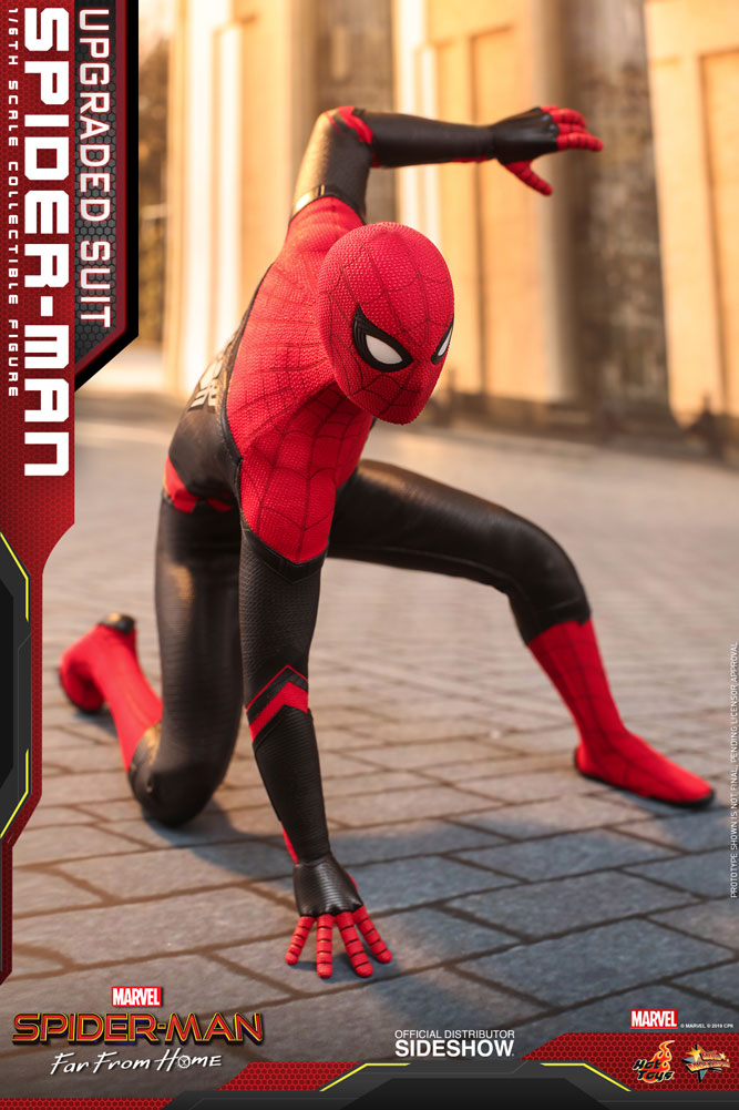 Spider-Man (Upgraded Suit)  Far From Home Sixth Scale Figure - Collectors Row Inc.