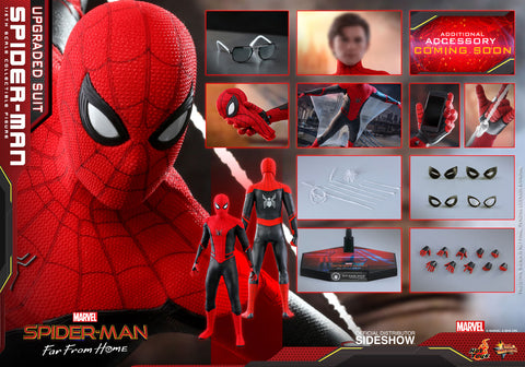 Hot Toys Spider-Man (Upgraded Suit)  Far From Home Sixth Scale Figure - Collectors Row Inc.