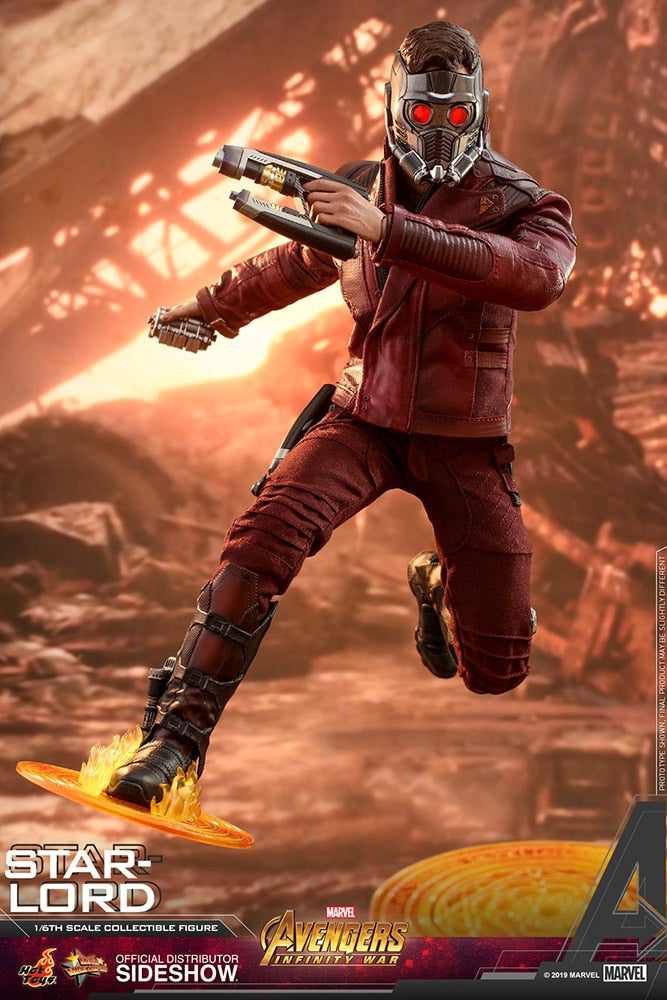Hot Toys Star-Lord Marvel Avengers: Infinity War Sixth Scale Figure - Collectors Row Inc.