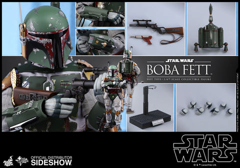 Hot Toys Boba Fett Episode V: The Empire Strikes Back - Movie Masterpiece Series - Sixth Scale Figure - Collectors Row Inc.