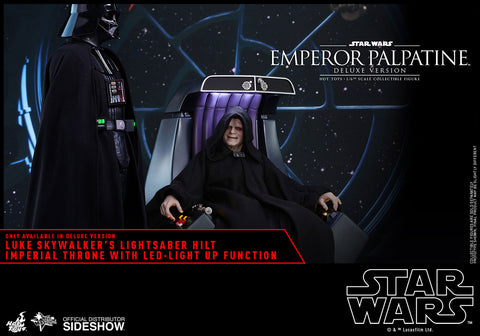 Hot Toys Emperor Palpatine Deluxe Version Episode VI: Return of the Jedi - Movie Masterpiece Series - Sixth Scale Figure - Collectors Row Inc.
