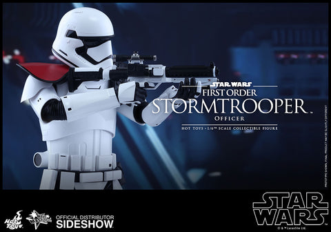 First Order Stormtrooper Officer Star Wars Movie Masterpiece Series - Sixth Scale Figure by Hot Toys