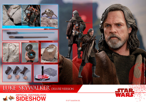 Hot Toys Luke Skywalker Deluxe Version Star Wars: The Last Jedi - Movie Masterpiece Series - Sixth Scale Figure - Collectors Row Inc.