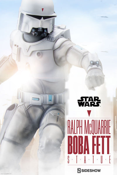Ralph Mcquarrie Boba Fett Statue By Sideshow Collectibles 1 Edition