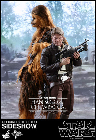 Hot Toys Star Wars Han Solo & Chewbacca Force Awakens 1/6 Scale Figure set - Collectors Row Inc.