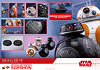Hot Toys BB-8 and BB-9E- Star Wars: The Last Jedi - Movie Masterpiece Series - Sixth Scale Figure - Collectors Row Inc.