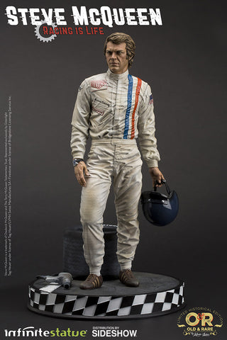 Steve McQueen Statue King of Cool Infinite Statue Le Mans Racing Maquette - Collectors Row Inc.