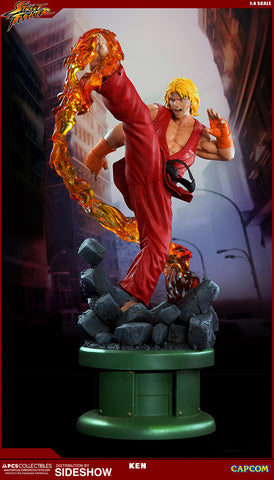 Ken Masters with Dragon Flame 1:4 Ultra Statue by PCS Pop Culture Shock - Collectors Row Inc.