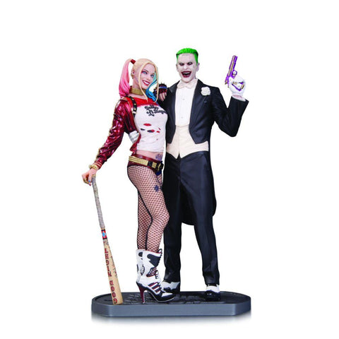 DC Collectibles Suicide Squad Movie: The Joker and Harley Quinn Statue - Collectors Row Inc.