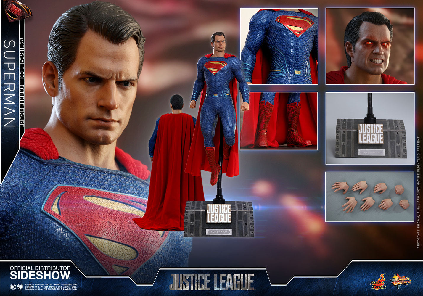 Superman Justice League - DC Comics Movie Masterpiece Series - Collectors Row Inc.