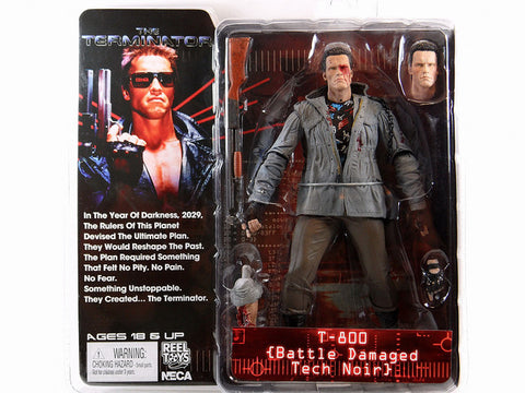 NECA Terminator: T-800 [Battle Damaged Tech Noir] Series 2 - Collectors Row Inc.