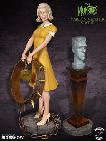 Tweeterhead Marilyn Munster and Herman Bust Special Edition Color Maquette Statue