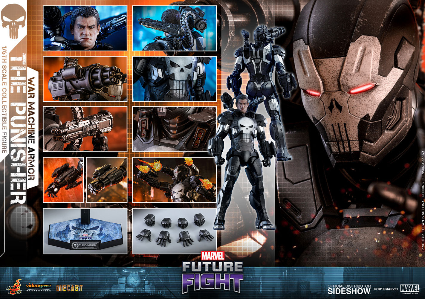 Punisher War Machine Armor Video Game Masterpiece Series - Collectors Row Inc.