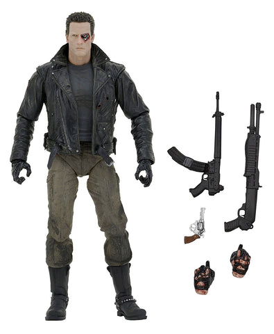 "NECA Terminator Ultimate Police Station Assault T-800 7"" Scale Action Figure - Collectors Row Inc."
