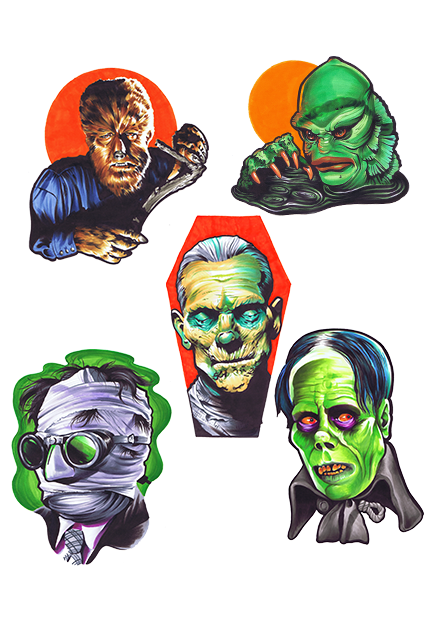 Universal Classic Monsters Wall Decor Series 1 Collection - Collectors Row Inc.