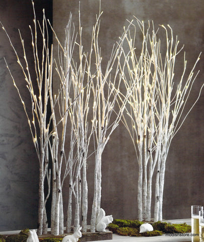 Lighted Birch Grove Lamp