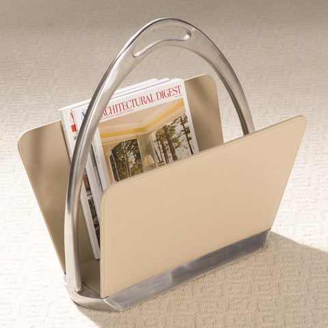 Leather Stirrup Magazine Holder