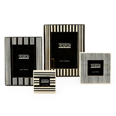 Stripe Black & White Photo Frame Set