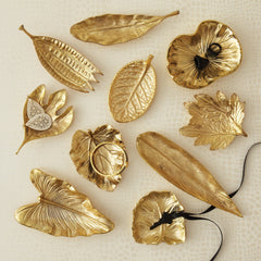 Brass Foliage Dishes