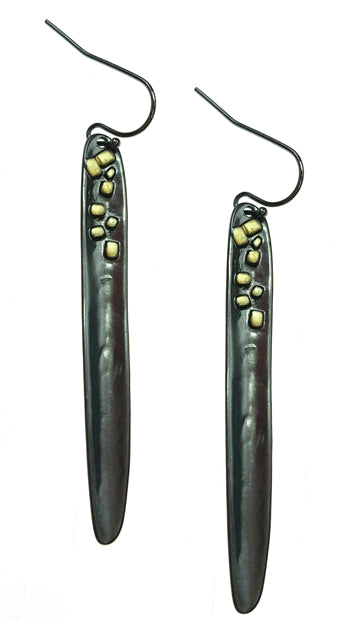 Gun Metal Drop Earrings