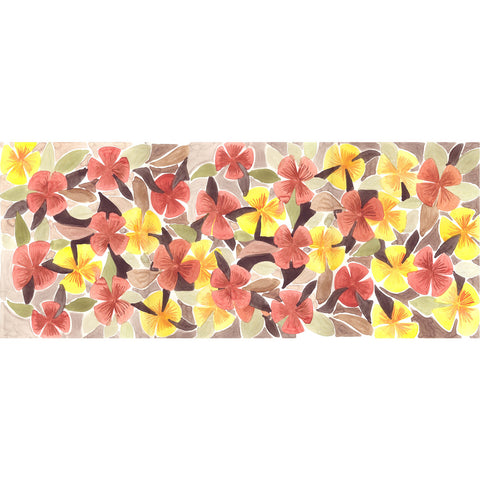 Florentina Watercolor Floral Scarf