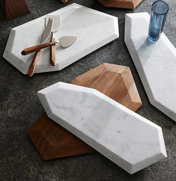 Faceted Marble Cutting Boards