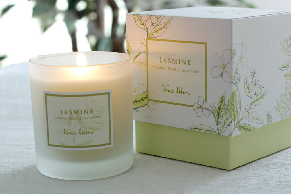 Glass Candle: Jasmine Scented