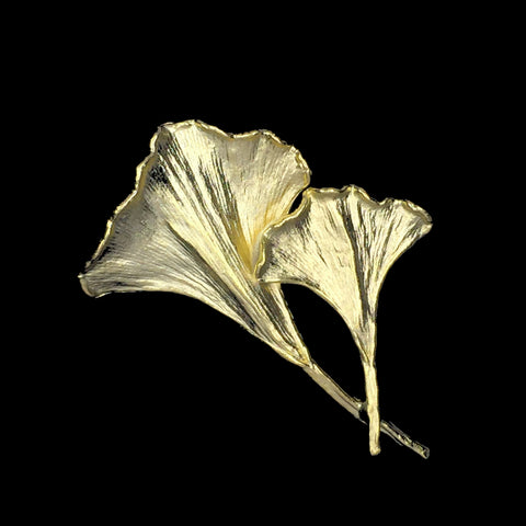 Gold Ginkgo Leaf Pin
