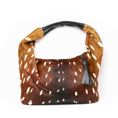 Sera Leather Cowhide Hobo