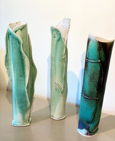 Alice Corning Porcelain Vases