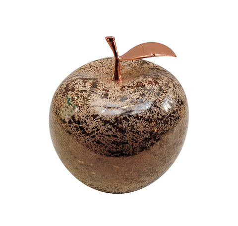 Ceramic Champagne Apple with Rose Stem