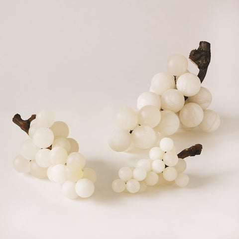 Bella Grapes White Alabaster