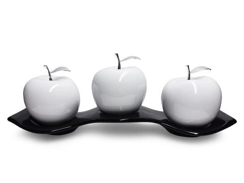 Ceramic Apples Large with Ceramic Tray