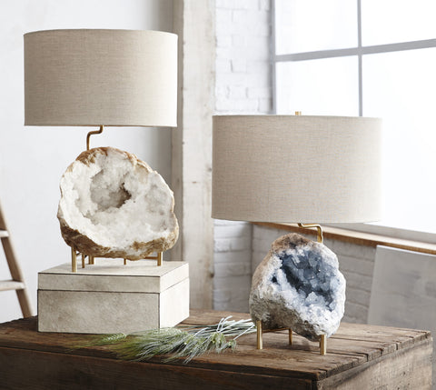 Mineral Stand Lamp with Geode