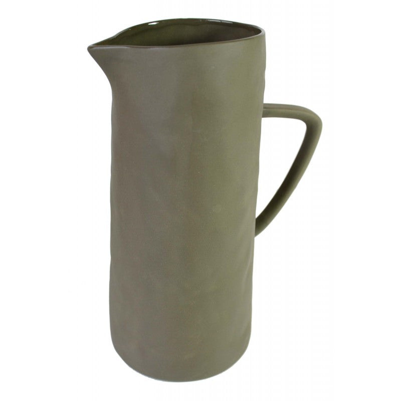 Olive Green Pitcher