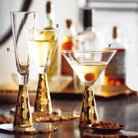 Gold Verglas Wine Glasses