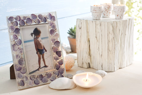 Violet Shell Photo Frame