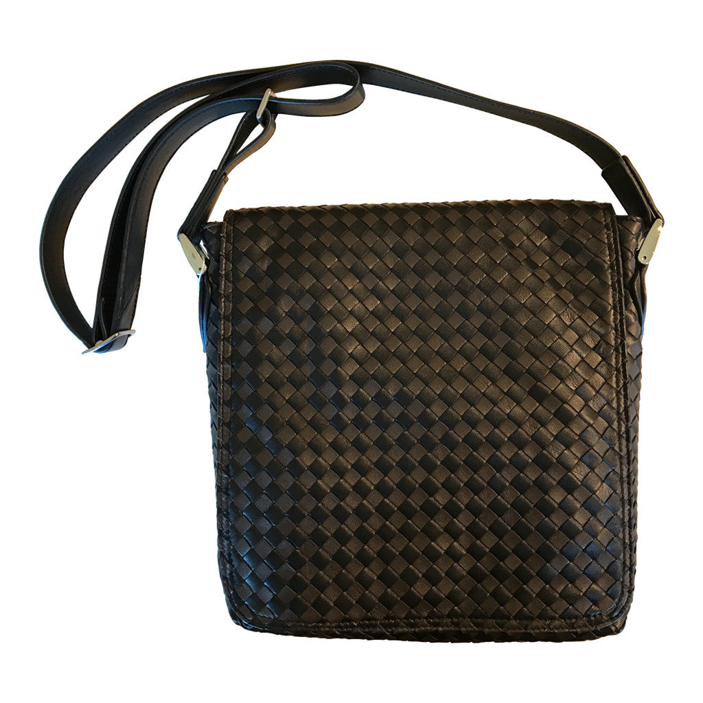 Sera Two Tone Woven Messenger Bag