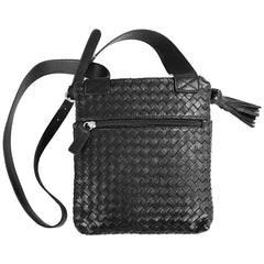 Sera Travel Black Woven Purse