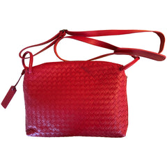 Sera Red Woven Purse