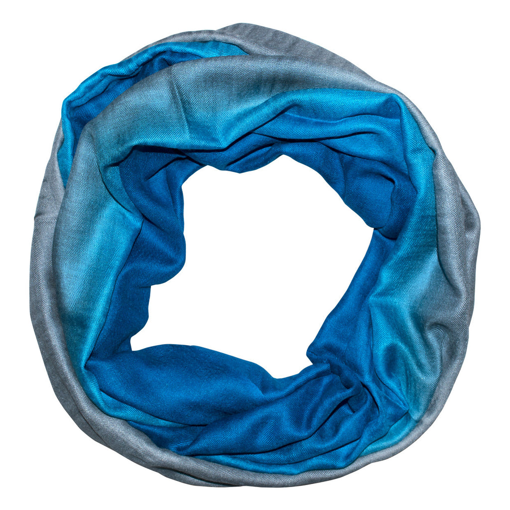 Blue Grey Ombre Scarf