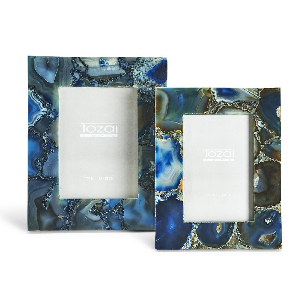 Blue Agate Photo Frame