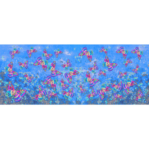 Watercolor Butterfly Blue Scarf