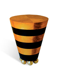 Cone Occasional Striped Table 18""