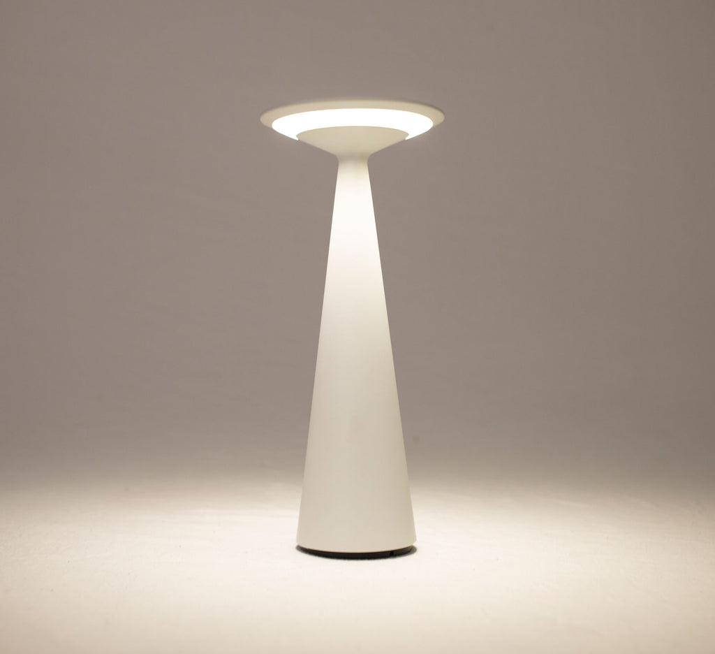 Candela Rechargeable Table Lamp White