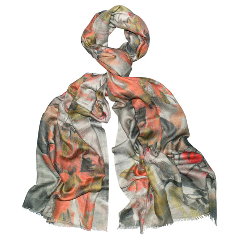 Watercolor Fresh Love Floral Scarf