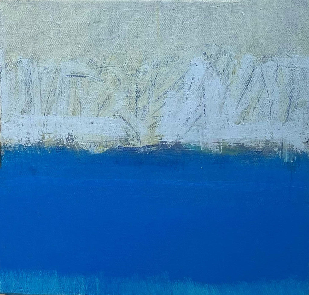 Sharon Paster Snow Bound I (Shades of Blue)