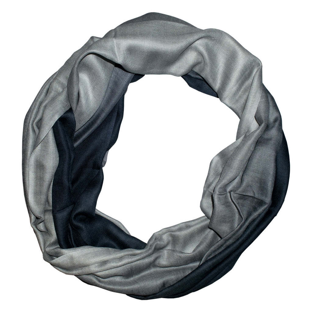 Black Grey Ombre Scarf
