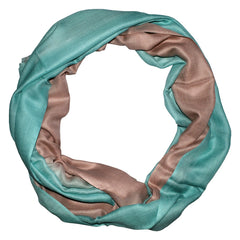 Oil Blue Beige Ombre Scarf