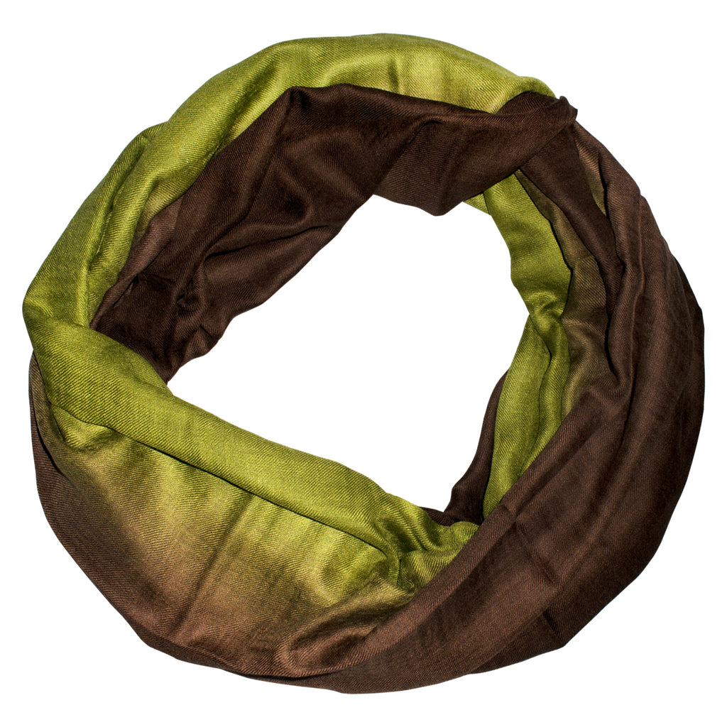 Olive Brown Ombre Scarf